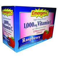 Alacer - Emergen-C Raspberry, 1000 mg, 30 packets