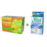 Alacer, Emergen-C, Vitamin C, Flavored Fizzy Drink Mix, Lemon-Lime, 1000 mg, 30 Packets, 9.3 g Each, Rainbow Light, Mint Asure, Fresh Breath Capsules, 75 Capsules
