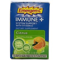 Alacer Emergen-C Immune Plus Fizzy Drink Mix, Citrus, 10 Count