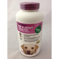 GNC Mega Hip & Joint Health for Adult Dogs 180 Chewable Tablets - Savory Beef Flavor