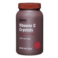 GNC Vitamin C Crystals with Rose Hips, 8 oz