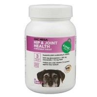 GNC Hip & Joint Health Chewable Tablet for Senior Dogs in Dreamy Peanut Butter Flavor 60 Count