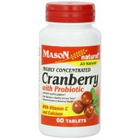 Mason vitamins cranberry with Probiotic and Added Vitamin C and Calcium, 60 Tablets