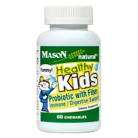 Mason Natural Healthy Kids Probiotic with Fiber Immune/Digestive Support Chewable 60 Tablets
