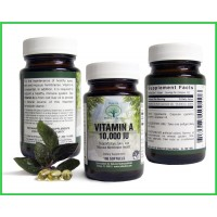 Natural Nutra - Premium Vitamin A - Sourced from Natural Cod Liver Oil - Made in the USA - Non-GMO - Gluten Free - 100 Softgels - 10,000 IU