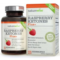 NatureWise Raspberry Ketones Plus + Advanced Antioxidant Blend with Green Tea for Weight Loss, 120 count