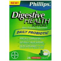 Phillips Digestive Health Support Probiotic Chewable Tablets, 26 Count