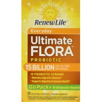 Renew Life Ultimate Flora Everyday Probiotic Go Pack 15 Billion (Formerly RTS Daily), 30 count