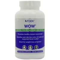 Roex WOW Body Cleanser 120 Vegetarian Capsules for Detoxification, Colon Cleansing