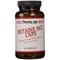 TwinLab - Betaine Hcl Caps, 100 capsules (Digestive Aid)