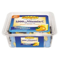 Vitamin Drink Mix, Vitamins C/B, 1000 mg, 50ea/PK,Tangerine