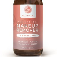 100% Natural Makeup Remover & Facial Oil - Effortlessly Remove Makeup - Nourish & Moisturize Skin - Powerful Vegan Formula With Grape Seed, Avocado, Macadamia, & Organic Jojoba Oils - Foxbrim 2OZ