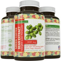 100% Pure Green Coffee Bean Extract ● Highest Quality 800 Mg ● Best Formula for Weight Loss on the Market - Women & Men ● Guaranteed By California Products
