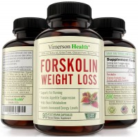 45 DAY SUPPLY - Vimerson Health 100% Pure Forskolin Extract for Extreme Weight Loss. Best Diet Pills That Work Fast for Women and Men. Premium Appetite Suppressant, Metabolism Booster & Carb Blocker. 100% All Natural
