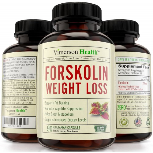 45 Day Supply Vimerson Health 100 Pure Forskolin Extract For Extreme Weight Loss Best Diet Pills That Work Fast For Women And Men Premium