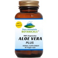 Aloe Vera Plus Capsules. 200:1 Extract. Kosher Organic Dried Aloe Vera Gel, Marshmallow Root, Slippery Elm
