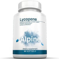 Alpine Nutrition Lycopene Supplement 10mg Softgels Natural Antioxidant for Cellular & Prostate Health - 60 Capsules