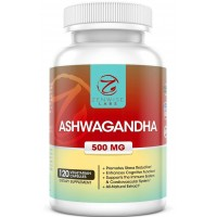 Ashwagandha - All-Natural Supplement - 500mg Capsules for a Healthy Immune System & Cardiovascular System - The Best Stress Reducer & Energy Booster - 120 Vegetarian Capsules