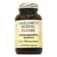 Ashwagandha Extract - 3.4% Withanolides - 60 550mg VegiCaps - Stearate Free, Bottled in Glass