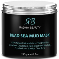 BEST Dead Sea Mud Mask for face & body 8.8 oz - The most effective 100% natural facial treatment to minimize pores, reduce wrinkles, decrease acne and Improve skin Complexion by Radha Beauty