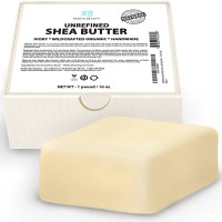 Radha Beauty BEST Shea Butter - 1 LB (16 oz) Premium Unrefined Ivory Shea Butter for DIY Skin Care Recipes, Dry or Acne-Prone Skin, Eczema, Stretch Marks and Delicate Baby Skin