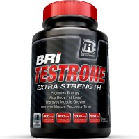 BRI Nutrition Testosterone Booster - Testrone All Natural Supplement With Diindolylmethane, Tongkat Ali, Tribulus Terrestris, Magnesium Sulfate Anhydrous, Boron & Zinc - 30 Day Supply - 60 Capsules