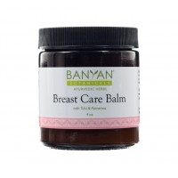 Banyan Botanicals Breast Care Balm - Certified Organic, 4 oz - Tulsi & Palmarosa For Massage Aid for Regular Breast Care