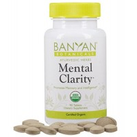 Banyan Botanicals Mental Clarity - Certified Organic, 90 Tablets - Promotes Memory and Intelligience