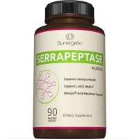 Best Serrapeptase Enzyme Supplement - Natural Joint, Sinus & Immune Support - Premium High Potency Serrapeptase Enzymes Formula - 40,000 SU Per Capsule- 90 Enteric Coated Vegetable Capsules