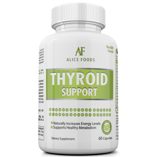 "Best Thyroid Support Supplement with Iodine + ""Thyroid Disorders"" Guide - Premium Natural Ingredients - Improves Energy Levels and Metabolism - Pack of 60 Capsules - Perfect for Men and Women"