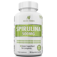 Best Value Potent Spirulina Capsules + Guide on Superfood Meal Plans And Recipes - Easily Meet Everyday Nutrition Needs - Rich in Nutrients and Proteins - Improves Immune System - Powerful Antioxidant