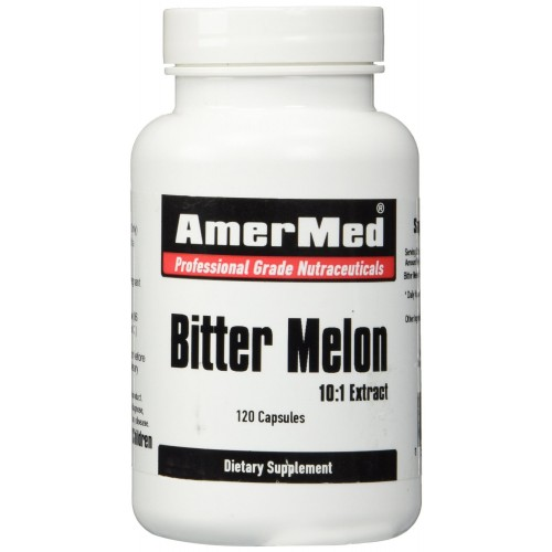 Bitter Melon (Karela) Extract 600mg, 120 Capsules by AmerMed