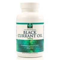 Black Currant Oil 1000mg - Cold Pressed - Hexane Free - High in GLA - Supports Healthy Hair, Skin, and Nails - Assists with Menstrual Cycle - Softgel Capsules Supplement