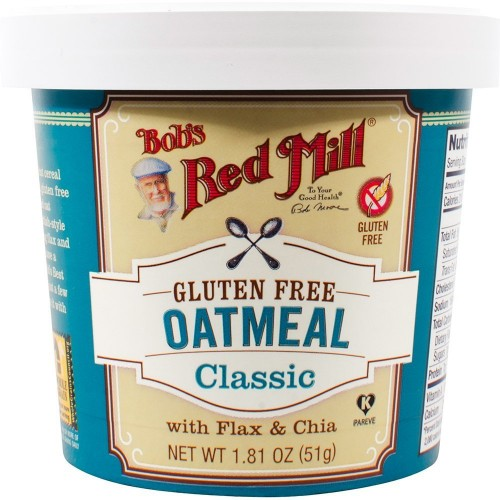 Bob's Red Mill - Gluten Free Oatmeal Cup Classic with Flax & Chia (Pack of 12)