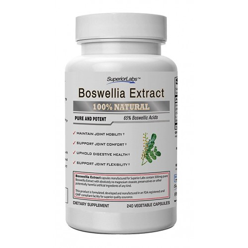Boswellia Extract by Superior Labs - Non Synthetic, 500mg, 240 Vegetable Caps