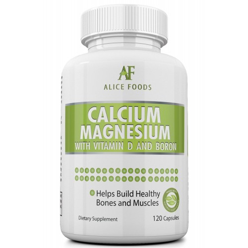 Calcium Magnesium Vitamin D Boron Complex - Effective Calcium Absorption and Retention - Best Value for Money - 120 Capsules in the Package - Better than Tablets, Pills and Powder