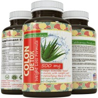 California Products Colon Detox Weight Loss Formula Dietary Supplement, 500mg (60 Tablets)