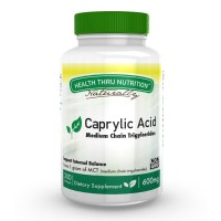 Health Thru Nutrition Caprylic Acid 600mg 200 softgels Non-GMO