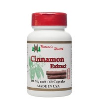 Cinnamon Extract, Promotes Healthy Blood Sugar Support, 100% All-Natural Heart Health Support Supplement, Cassia, Gui Zhi, 460 Mg, 60 Capsules, Nature's Health