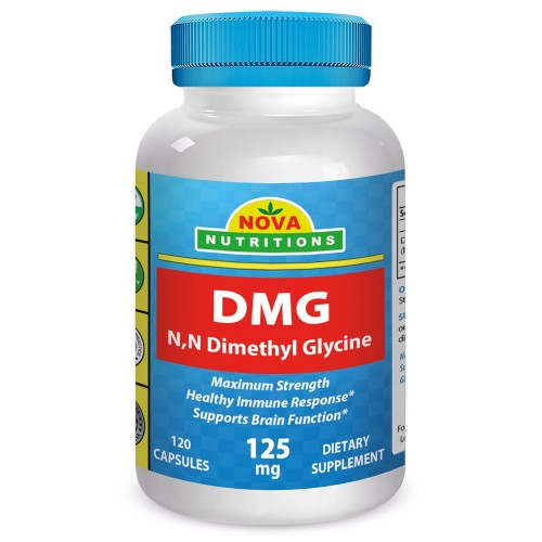 DMG 125 mg 120 Capsules by Nova Nutritions