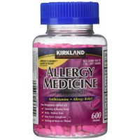 Diphenhydramine HCI 25 Mg Kirkland Brand Allergy Medicine and Antihistamine Compare to Active Ingredient of Benadryl Allergy Generic, 600 Ct