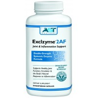 Exclzyme 2AF - 200 Vegetarian Capsules - Premium Natural Systemic Enzyme Formula - Total Joint Support - Contains Enteric-Coated Serrapeptase -AST Enzymes - 100% Satisfaction Guaranteed