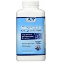 Exclzyme - 90 Vegetarian Capsules - Premium Natural Systemic Enzyme Formula - Total Body Support - Contains Enteric-Coated Serrapeptase - AST Enzymes - 100% Satisfaction Guaranteed