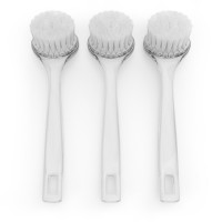 Facial Cleansing Brush, Face Exfoliating Tool. Gently Cleans and Exfoliates Skin, Helps Remove Make Up, Increases Blood Flow. Set of 3 Acrylic Brushes. By Christina Moss Naturals.