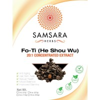 Fo-Ti Extract Powder (He Shou Wu) - 20:1 Concentrated Extract, ORGANIC, Prepared (4oz/114g)