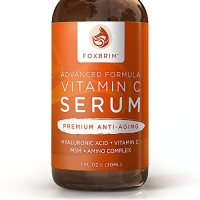 Foxbrim Vitamin C Serum for Face, 1 fl oz. - BEST Anti-Aging Serum - Vegan Hyaluronic Acid & Amino Complex - Premium Face Serum for Beautiful Skin - Natural & Organic - Perfect for All Skin Types - Lasting Results with Amazing Guarantee