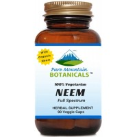 Full Spectrum Neem Capsules. 90 Kosher Vegetarian Pills. 500mg Organic Neem Leaf Powder Supplement