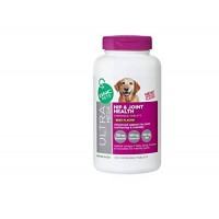 GNC Pets Big Bottle Ultra Mega Hip and Joint Health Chewable Tablets Beef Flavor Senior Dogs Advanced Support for Joint Cushioning and Mobility 120 Chewable Tablets