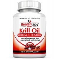 Health Labs Nutra Omega 3 Krill Oil 1000mg 30 Day Supply Highest Concentration of Omega-3's, 6'S 9'S DHA/EPA