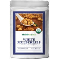Healthworks White Mulberries Sun-Dried Raw Organic, 1lb